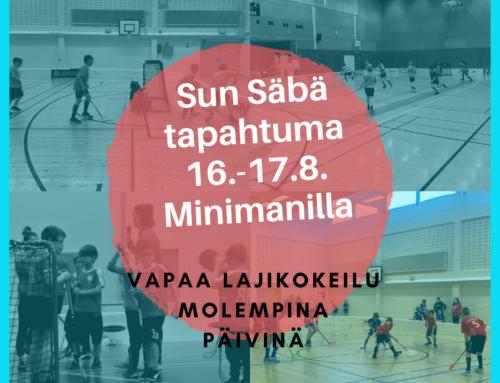 Sun Säbä ja vapaa lajikokeilu 16-17.8.